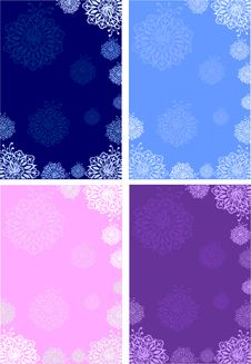 Free Winter Background.snowflakes.flowers Stock Images - 27219484