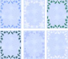 Winter Backgrounds.snowflakes.pine Branches Stock Photography