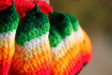 Free Pretty Multicolored Handwoven Woolen Dress Closeup Royalty Free Stock Photos - 27219858