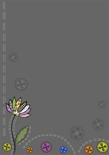 Free Background.fabric. Flower. Buttons Royalty Free Stock Photo - 27220255