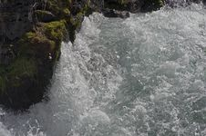 Rough Water In The River Rapids. Royalty Free Stock Photography