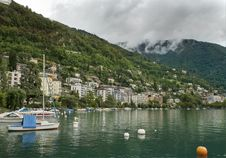 Free Montreux. Switzerland, Lake Geneva Stock Photos - 27223843