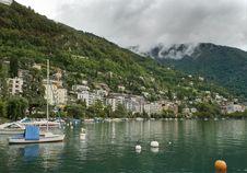 Montreux. Switzerland, Lake Geneva Stock Photos