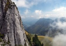 Free Stone Cliff In The Swiss Alps Stock Photo - 27224100