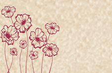 Free Stylized Maroon Flowers Stock Photos - 27224163