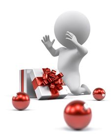 Free Opening Christmas Gift Royalty Free Stock Photography - 27225517