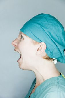 Free Screaming Nurse Royalty Free Stock Image - 27226326