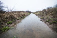 Free Flooded Path &x28;ditch&x29; Stock Photography - 27226602