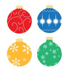 Free Illustrated Christmas Ornaments Stock Image - 27226651
