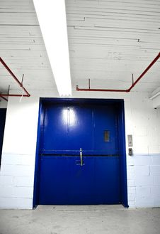 Free Blue Door Stock Photo - 27226740