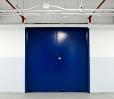 Free Blue Door Stock Photography - 27226742