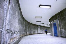 Free Underground Grunge Metro Corridor - One Person Royalty Free Stock Photo - 27226765
