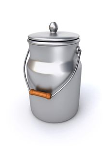 Free Milk Can Royalty Free Stock Photo - 27228055