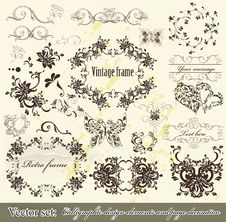 Free Calligraphic Design Elements And Page Decoration Royalty Free Stock Photo - 27229395
