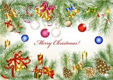 Free Christmas Frame From Fur Tree Branches Stock Photo - 27229780