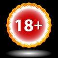 Free Eighteen Plus Icon Stock Image - 27232701