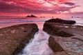 Free Rocky Coastal Sunset Stock Photography - 27238992
