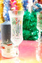 Free Festive Glasses And A Candle On The Christmas Stock Images - 27239024