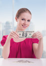 Free Businesswoman  With Money, Dollars Royalty Free Stock Photography - 27239567