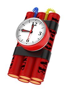 Free Dynamite Bomb With Clock Timer. Royalty Free Stock Photography - 27231377