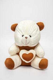 Free Teddybear - Heart Royalty Free Stock Photo - 27231835