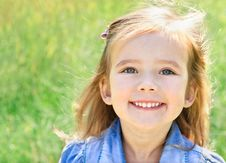 Free Outdoor Portrait Of Smiling Little Girl Royalty Free Stock Image - 27231966
