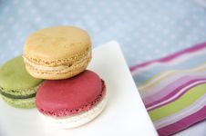 Free Sweet Macarons On Colorful Background Stock Images - 27235144