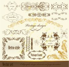 Free Calligraphic Design Vintage Elements Stock Photography - 27235692