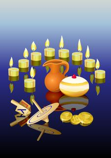 Free Hanukkah Background With Candles Stock Photo - 27238280