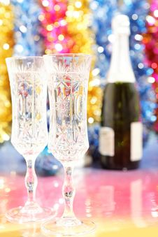 Free Celebratory Glasses Of Champagne To The Christmas Royalty Free Stock Photography - 27239057