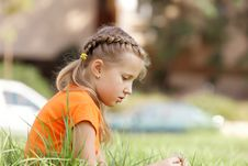 Pretty Girl Outdoors In Summer Stock Photography