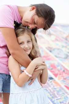 Free Pretty Girl With Her Mother Stock Images - 27239364