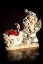 Free Santa Claus And Snowman At Night Stock Photos - 27240863