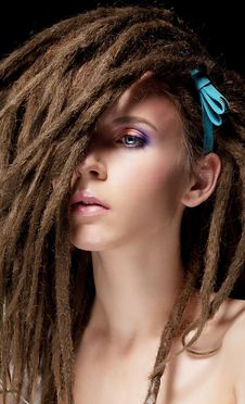 Free Dreadlocks. Fashion Hairstyle With Dreads Royalty Free Stock Photos - 27240868