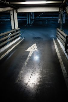 Parking Garage In Basement, Underground Interior Stock Photos