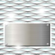 Free Ribbed Glass With Metal Plate Royalty Free Stock Photo - 27242375