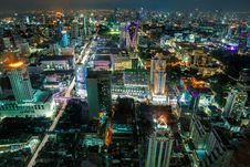 Free Night View Of Bangkok Royalty Free Stock Photography - 27243107