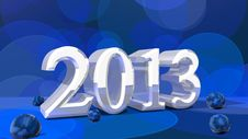 2013 In 3D On Bokeh Background Stock Photos