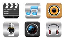 Free Entertainment Icon Set Royalty Free Stock Photo - 27245545