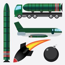 Free Bombs And Missiles. Stock Photo - 27245970