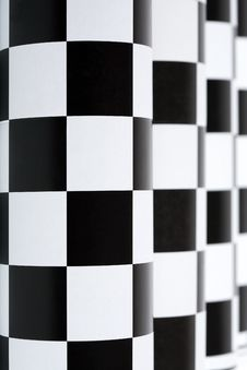 Free Checkered Colonnade Royalty Free Stock Photos - 27248278