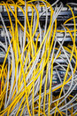 Free Server Back Side Showing Wiring Stock Photo - 27251730