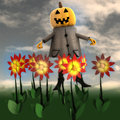 Free Pumpkin Witch In Dark Flower Garden Royalty Free Stock Image - 27255566