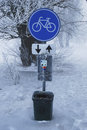 Free Traffic Signs In Winter Stock Photo - 27257440