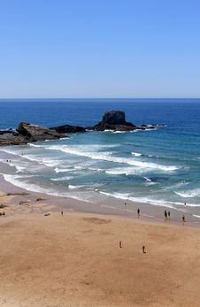 Free Overview Of Zambujeira Do Mar Village Beach Royalty Free Stock Photography - 27250467