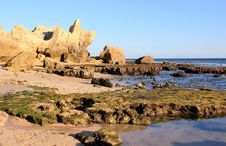 Free Western Algarve Beach Scenario, Portugal Stock Photos - 27250653