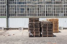 Free Crates Outside Factory In Industrial Setting Royalty Free Stock Photo - 27251705