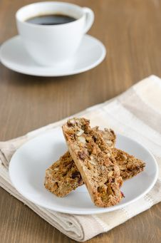 Free Biscotti With Nuts Royalty Free Stock Photography - 27252797