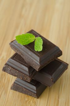 Free Chocolate And Mint Stock Photos - 27252873