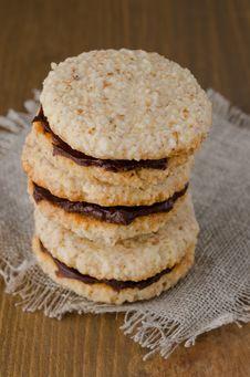 Walnut Cookies Stock Photo